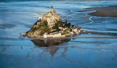 Grandes marées dans la baie du Mont Saint-Michel